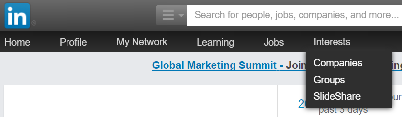 Customising your interests on LinkedIn