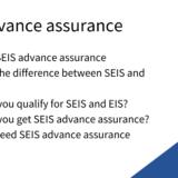 seis advance assurance